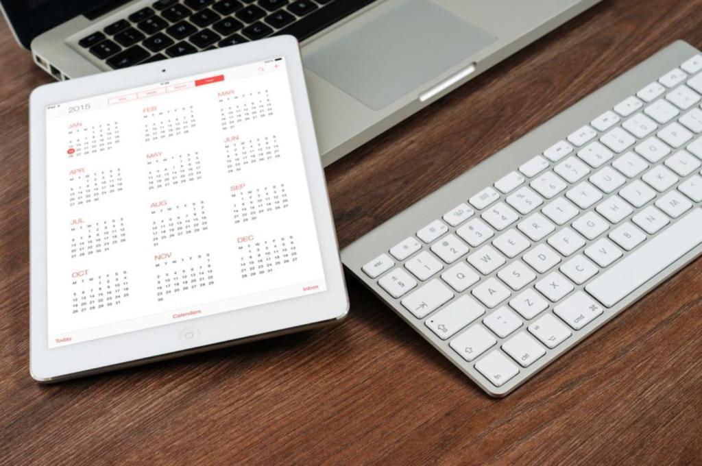 calendario per gestire il tempo