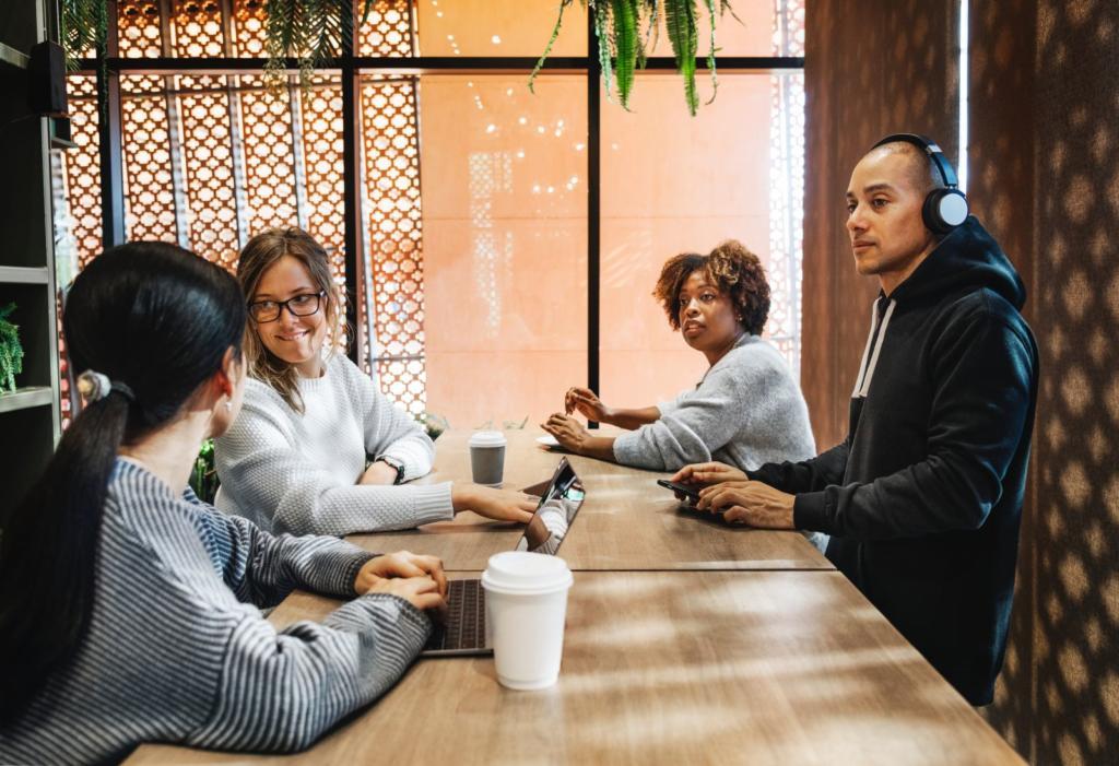 riunione del team di una startup
