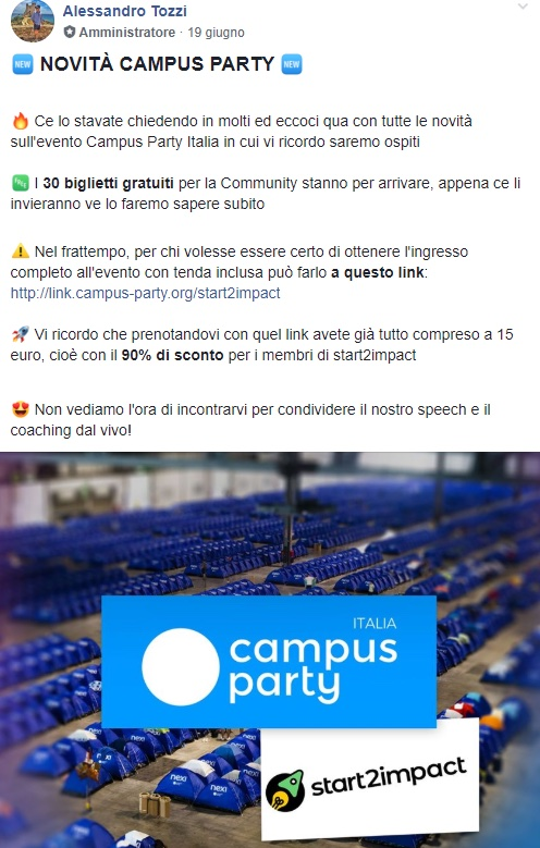 Campus party e start2impact