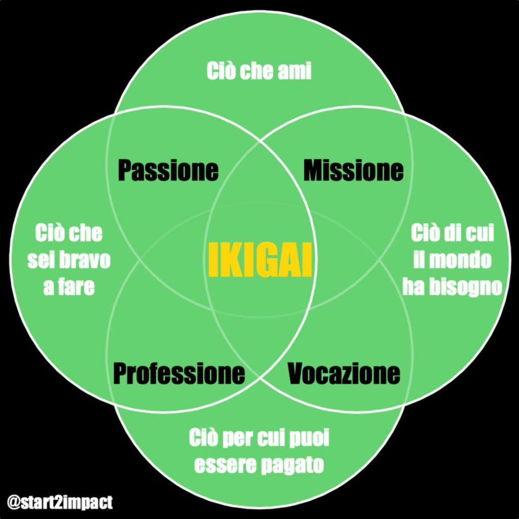 diagramma dell'ikigai