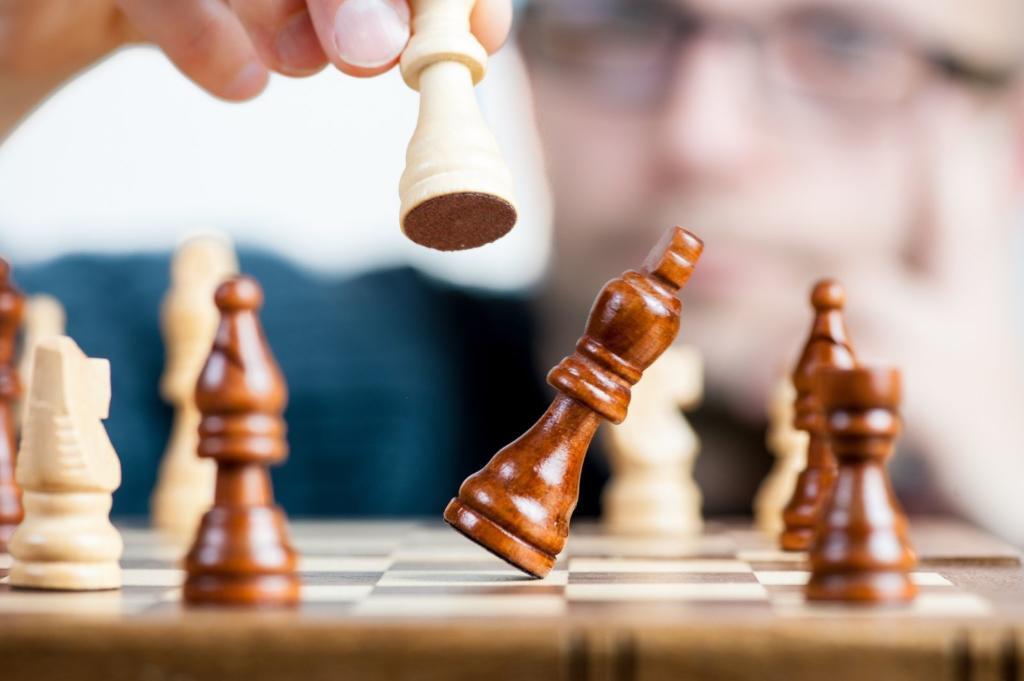 scacchi che cadono