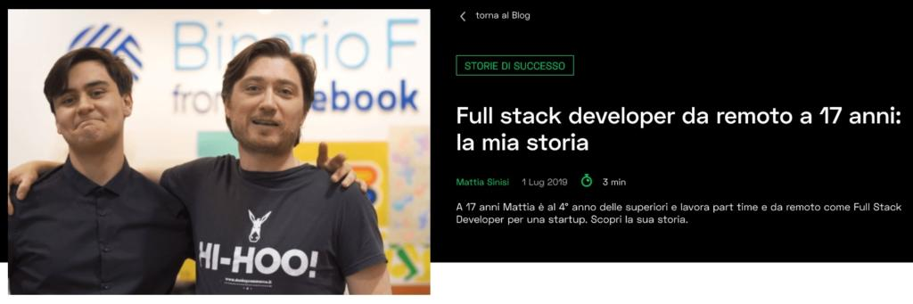 come diventare full stack developer