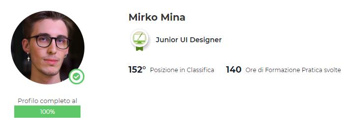 Profilo start2impact Mirko Mina