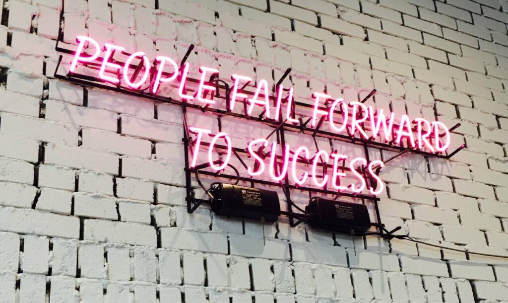 il fallimento fa parte del percorso di crescita personale e professionale